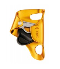 Зажим Petzl Croll L, yellow/black, Грудные